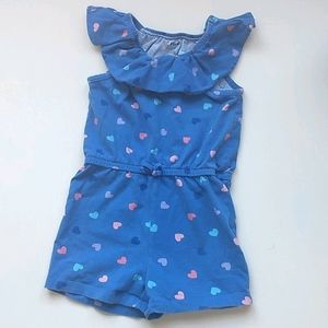 Blue Hearts Romper * Size 3 Toddler
